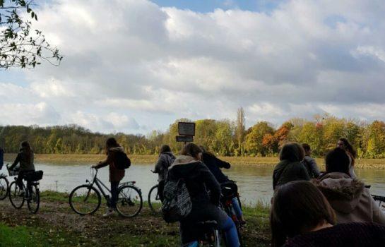 photo depuis une balade à Ketsch au bord du Rhin à vélo