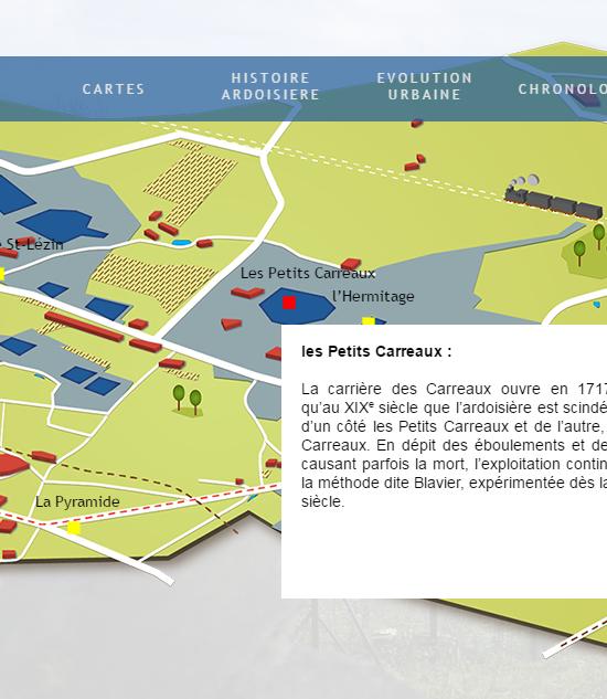 capture d'écran de l'exposition Trélazé, un urbanisme forgé par l'ardoise