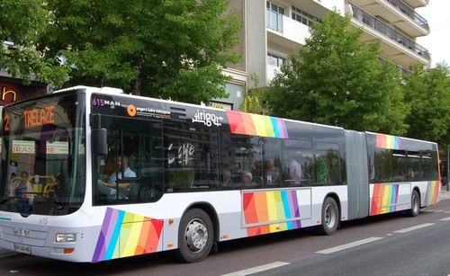 bus irigo Angers-Trélazé - ligne 2