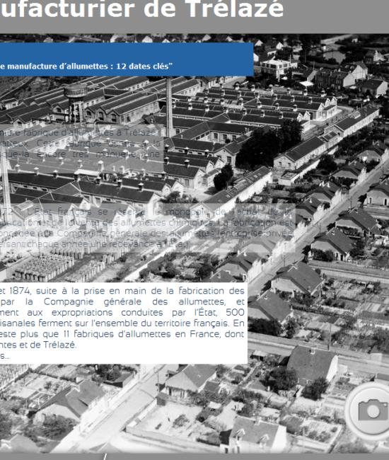 Capture d'écran - exposition sur la manufacture d'allumettes de Trélazé