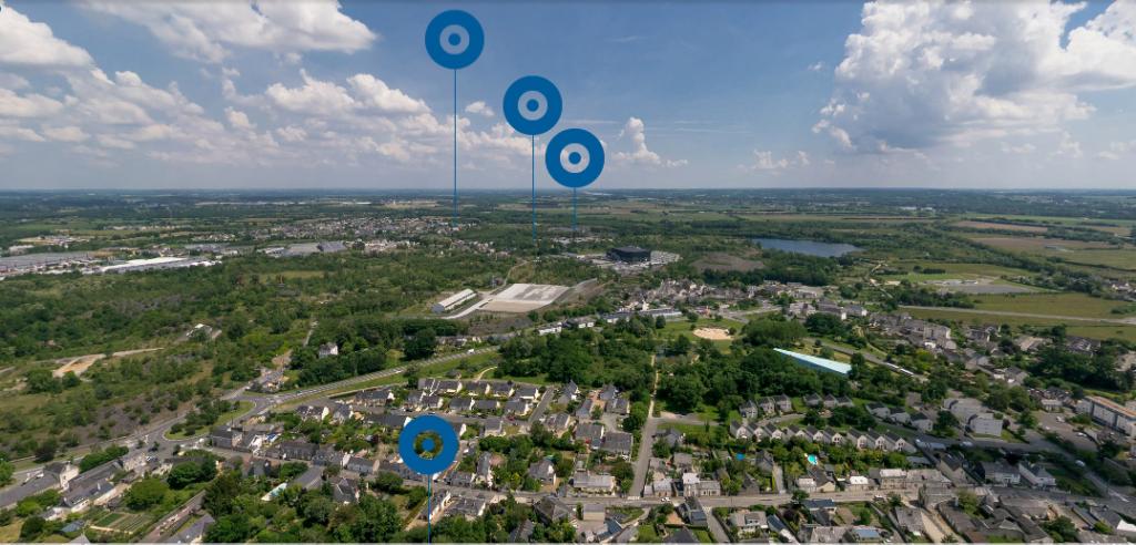 vue aérienne du musée numérique de Trélazé