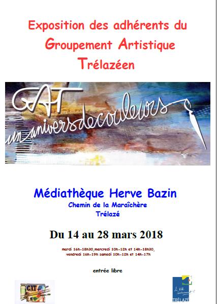 affiche de l'exposition du GAT mars 2018